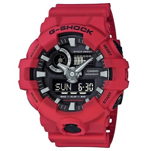 Casio G-Shock GA-700-4ACR Quartz Resin Casual Watch