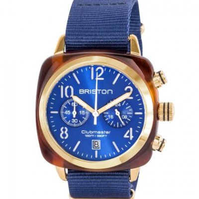 Briston 15140.PYA.T.9.NNB Navy Blue Wristwatch