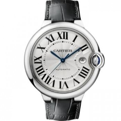 CARTIER W69016Z4 Blue Ballon , 42 MM, Steel, Leather Watch