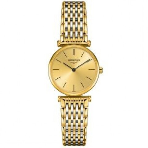 Longines La Grande Classique L4.209.2.32.7 Gold Dial Ladies Watch