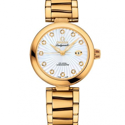 LADYMATIC OMEGA CO‑AXIAL 34 MM on Yellow Gold 425.60.34.20.55.002