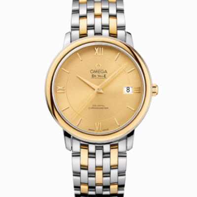 Omega De Ville PRESTIGE CO‑AXIAL 36.8 MM yellow gold on Steel 424.20.37.20.08.001
