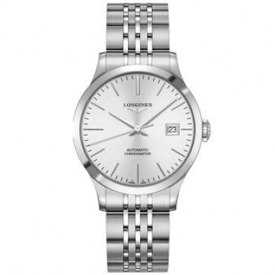 Longines Record Collection L2.820.4.72.6  Automatic Chronometer Silver Dial Men's Watch