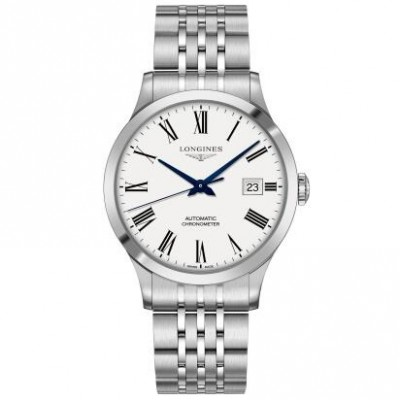 Longines Record Collection L2.821.4.11.6 Automatic White Dial Men's Watch