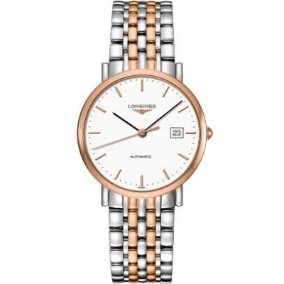 Longines Elegant Collection  L4.810.5.12.7 White Dial Two-tone Watch
