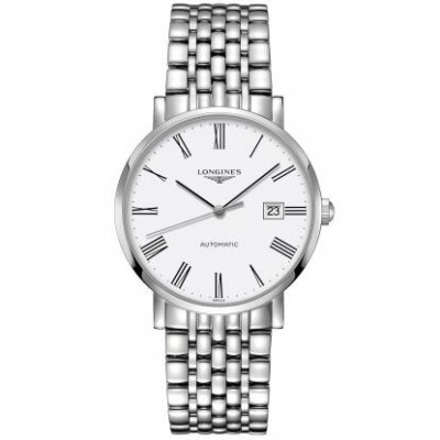 Longines Elegant Collection L4.910.4.11.6 Automatic White Dial Men's Watch