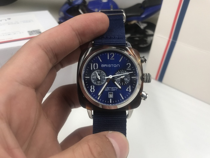 Briston 15140.SA.T.9.NNB Navy blue Wristwatch