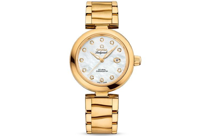 LADYMATIC OMEGA CO‑AXIAL 34 MM Yellow gold on yellow gold 425.60.34.20.55.003
