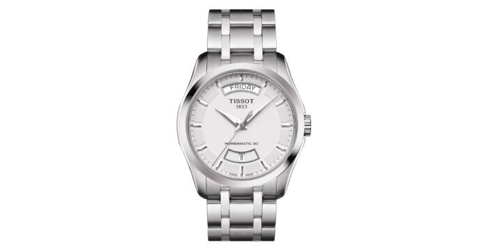 Tissot Couturier T0354071103101 POWERMATIC 80  Automatic Silver Dial Watch