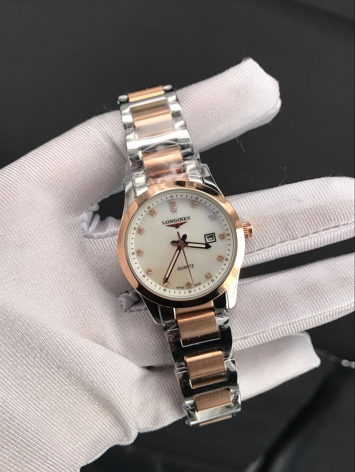 Longines Conquest Classic L2.285.5.87.7 18kt Rose Gold Diamond Watch